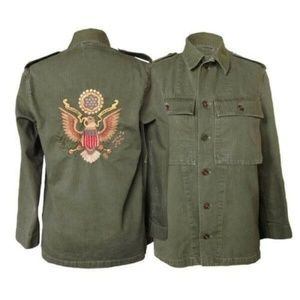 ALL SOULS MERCANTILE Embroidered Military Jacket M